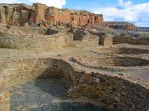 Парк каньона Chaco национальный исторический стоковые изображения rf