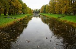 Парк Катрина в Tsarskoe Selo Стоковое Фото