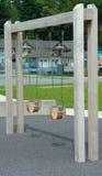 Парк качания ребенка установленный напольный стоковое изображение rf