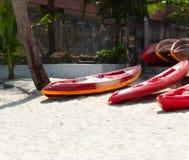 Парк каяка на пляже Стоковое фото RF