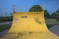 Парк конька, пандус Стоковые Фото