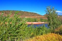 Парк Колорадо графства резервуара Horsetooth Стоковое фото RF