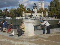 Парк Мадрид Испания Lago del retiro стоковые фото