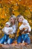 парк матей детей осени Стоковые Фотографии RF