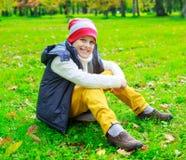 парк мальчика счастливый Стоковые Изображения