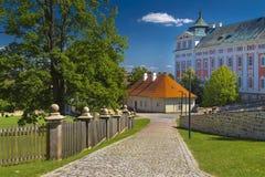 Парк монастыря в Broumov стоковые изображения