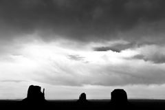 Парк Навахо долины памятника племенной, Юта, США Стоковые Изображения RF