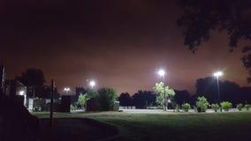 Парк на ноче, дальше Стоковое Изображение RF