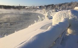 Парк Ниагарского Водопада в феврале Стоковые Фото