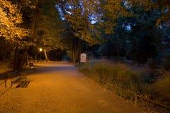 парк ночи maksimir Стоковые Фото