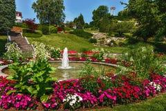 Парк Ньона на обваловке - Швейцарии стоковое фото rf