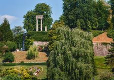 Парк Ньона на обваловке Швейцарии стоковая фотография