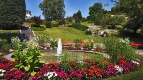 Парк Ньона на обваловке Швейцарии стоковое изображение rf