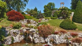 Парк Ньона на обваловке - Швейцарии стоковые фотографии rf