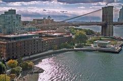 Парк Нью-Йорк Бруклинского моста Стоковая Фотография