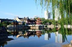 Парк озера лун Стоковое фото RF