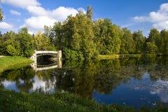 парк озера осени Стоковое Фото