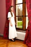Парк окна замка женщины Стоковые Фотографии RF