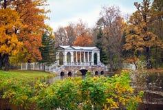 парк осени старый Стоковая Фотография