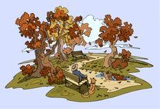парк осени Стоковые Изображения