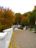 Парк осени, Kamenets Podolskiy, Украина Стоковое Изображение RF