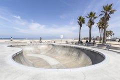 Парк доски конька пляжа Венеции Стоковое Фото
