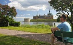 парк ослабляет шведский язык лета стоковые фото