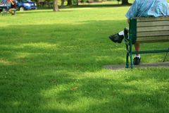 парк ослабляя Стоковые Изображения RF