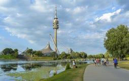 Парк Олимпии Мюнхена Стоковые Фотографии RF