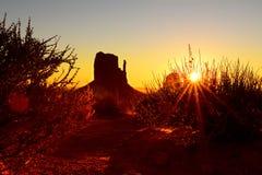 Парк долины памятника нации Навахо племенной Стоковая Фотография RF