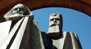 Парк памятного подарка - Marx и Энгельс Стоковые Фотографии RF