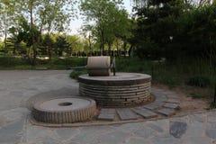 Парк Пекина Haidian на сумраке Стоковые Изображения RF