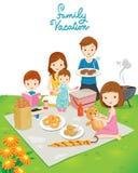Парк пикника семьи публично Стоковое Фото