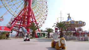 Парк потехи на harborland Кобе, Японии Стоковые Изображения RF