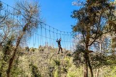 Парк приключения Buccheri в Сицилии стоковая фотография