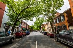 Парк прогулки заводи Кэрролла в Federick, Мэриленде Стоковая Фотография