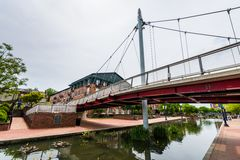 Парк прогулки заводи Кэрролла в Federick, Мэриленде Стоковые Фото