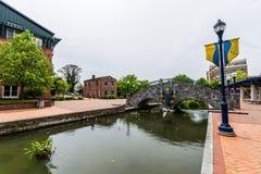Парк прогулки заводи Кэрролла в Federick, Мэриленде Стоковое Фото
