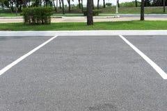 Парк пустого места для стоянки космоса внешний публично Стоковое Фото