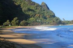 Парк пляжа Haena стоковое изображение