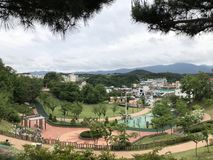 Парк семьи в Gangneung-si стоковые фотографии rf
