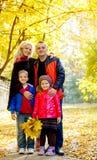 парк семьи 4 осени Стоковое Изображение