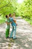 парк семьи Стоковые Фотографии RF