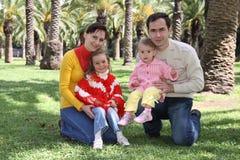 парк семьи Стоковые Изображения