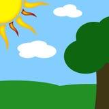 парк солнечный Стоковые Фото