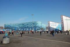 Парк стадиона айсберга олимпийский на XII Олимпийских Играх Сочи зимы Стоковые Фото