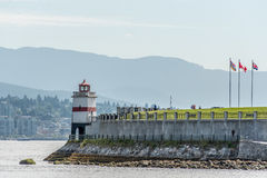 Парк Стэнли Ванкувер маяка Канада Стоковое Фото