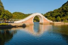 Парк с красивым озером в Тайбэе стоковые изображения rf