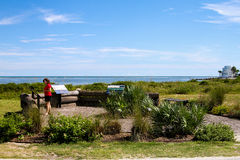 Парк Томсона, остров Sullivan, Южная Каролина Стоковые Изображения RF