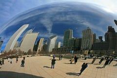 парк тысячелетия строба облака Стоковое Изображение